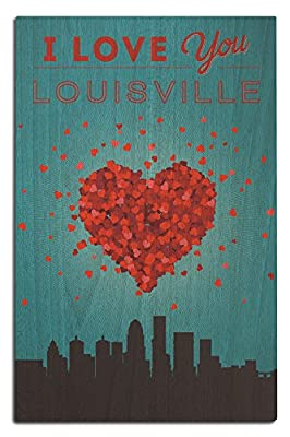 I Love You Louisville, Kentucky (Wood Wall Sign, Wall Decor Ready to Hang)