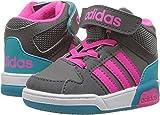 adidas NEO Girls' BB9TIS Mid Inf Sneaker, Grey Four/Shock Pink/Grey Five, 9 Medium US Toddler