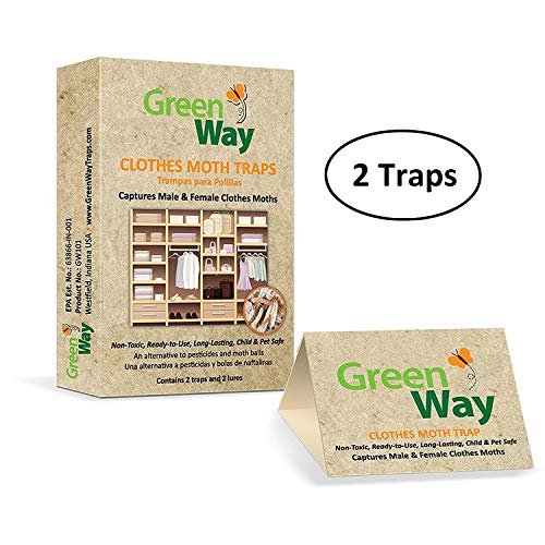 - GreenWay Clothes Moth Traps (2 traps per box) - pheromone attractant, eco-friendly, kid and pet safe