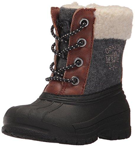 Image of the Oshkosh B'Gosh  Boys' Hootie Snow Boot, Black/Brown, 9 M US Toddler
