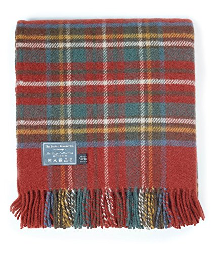 The Tartan Blanket Co. New Wool Knee Blanket Stewart Royal Antique Tartan (30