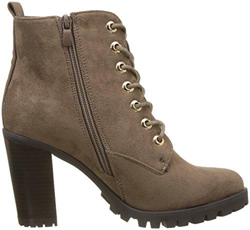 Initiale Damen Realo Combat Boots Beige (Taupe)