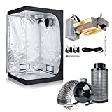 BloomGrow 1000W Double Ended Grow Light Kit + 48''x48''x78'' Grow Tent+6'' Inline Fan Air Filter Combo for Indoor Plant Growing System (DE Open Kit, 48''x48''x78'' Tent+6'' Filter Combo)