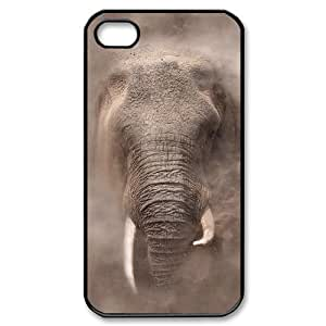 African Elephant DIY Cover Case with Hard Shell Protection for Iphone 4,4S Case lxa#821091