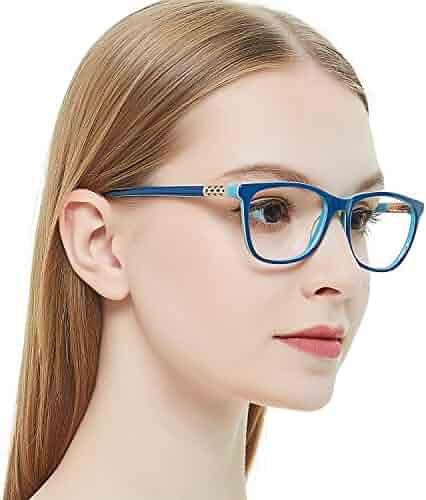 b1677fcfa2 OCCI CHIARI Shining Fashion Acetate Optical Frame Non-Prescription Clear  Eyeglasses 50-17-