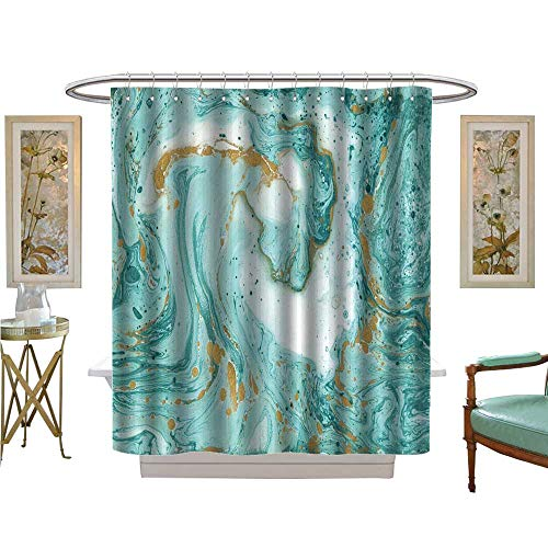 luvoluxhome Shower Curtains Digital Printing Decorative Marble Texture Paint can be Used as a Trendy Background for Wallpapers Satin Fabric Sets Bathroom W54 x L78 (Texture Wallpaper Satin)