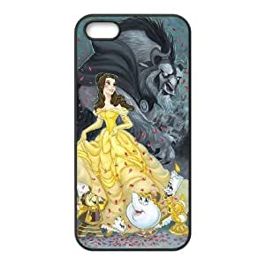 iPhone 4 4s phone case Black Disneys Beauty and the Beast DDRK5364717