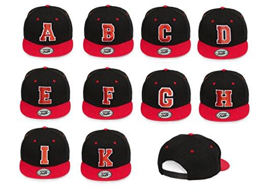 roja letras distintas o Gorra flexible 4sold las B blanca del ABC alfabeto negra con xntZvaAp