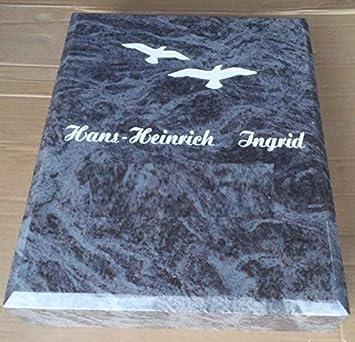 Beliebt Grabplatte inklusive Schrift Granitplatte Orion Urnengrabplatte WZ28