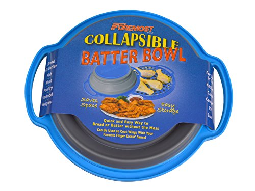 - The Original Collapsible Breading Batter Bowl - Mess-Free Breading, Coating, Sauces - Home or Camp Kitchens - Collapses Flat for Easy Storage