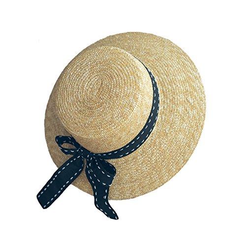 Meaeo Sommer Süße Niedliche Vintage Kreuz Sonnenhut Beach Hut Schleife Stroh Hut Cap Kurze Flache Krempe Kappe Für Frauen