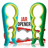 Jar Lid Opener - 3pcs Silicone Grip Jar Openers for Seniors & Arthritis - Open Stubborn Jar Tops with an Easy Twist - Ergonomic Handle & Sturdy Build