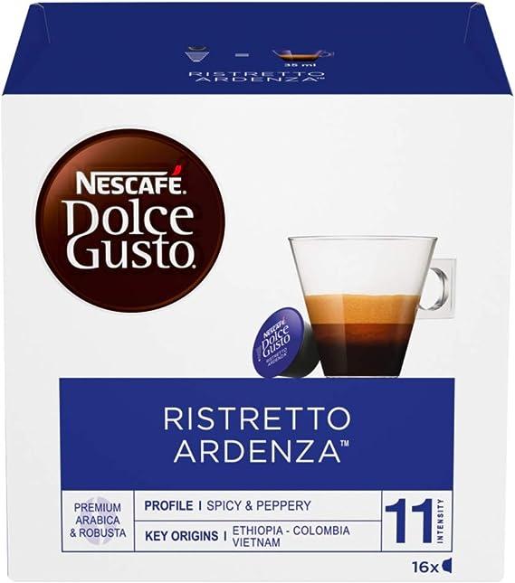 NESCAFÉ Dolce Gusto Café Ristretto Ardenza, Pack de 3 x 16 ...