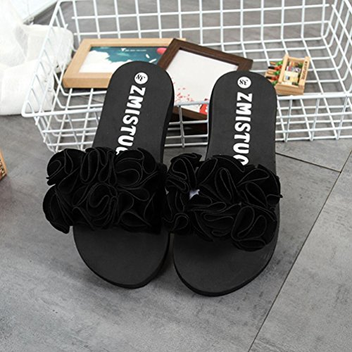 Sandalen Rosa Frauen LHWY Schwarz Damen Slipper Outdoor Indoor Lässige Strand Flip Rot Schuhe Sommer Blumen Flops Schwarz Mädchen fwawdnqA