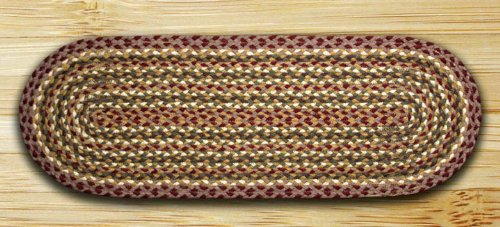 Earth Rugs TR-324 Oval Table Runner, 13 by 36
