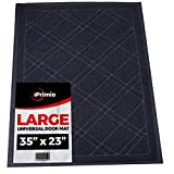 "Universal Door Mat - Plaid Design (Size 35""x 24"") - DuraLoop Mesh Catches Dirt and Debris - New Plaid Design (Black)"
