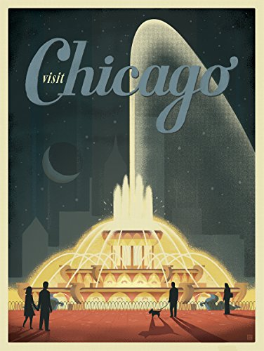 Chicago Buckingham Fountain Anderson Design Group Matte Poster - Fountain Anderson