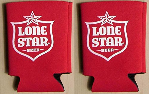 (Lone Star Beer Can Kaddy Coolie Huggie Cooler Set of)