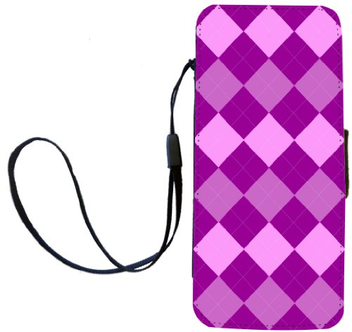Rikki Knight Triple Purple Argyle Flip Wallet iPhoneCase with Magnetic Flap for Apple iPhone 5c