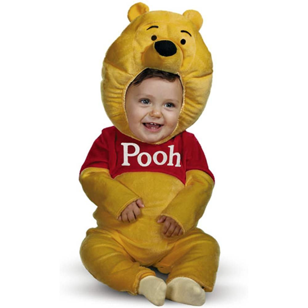 99f47f867baa Amazon.com  Deluxe Winnie The Pooh Toddler Costume - Toddler Small  Clothing