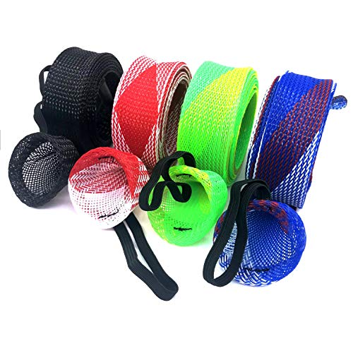 Price comparison product image LYFZ 4Pcs / Set Fishing Sleeve Rod Cover, Spinning Rod Sleeve Pole Glove Protector Cover for Fly, Spinning, Casting, Sea Fishing Rod