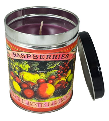 - Our Own Candle Company Black Raspberry Vanilla Scented Candle in 13 Ounce Tin with a Colorful Fruit Label