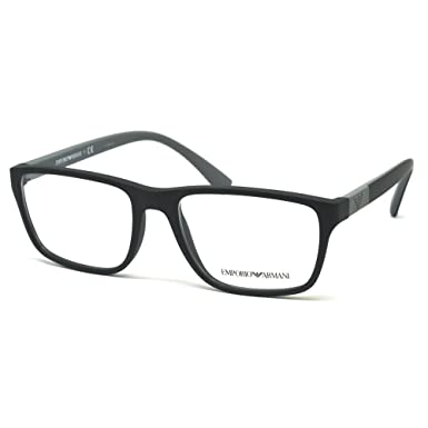 Armani EA3091 Eyeglass Frames 5042-53 - Matte Black at Amazon Men\'s ...