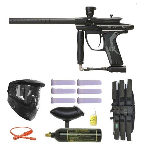 2012 Spyder Fenix Electronic Paintball Gun 3Skull Mega Set - Diamond Black
