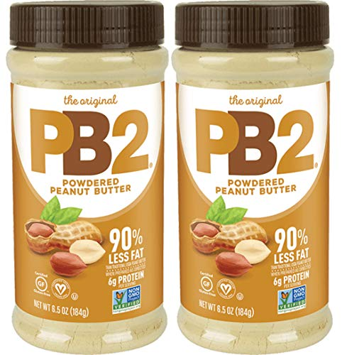 (PB2 Original Powdered Peanut Butter - Low Fat, High Protein Powder from Roasted Peanuts, 6.5oz (Pack of 2))