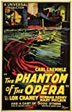 The Phantom of the Opera Poster B 27x40 Lon Chaney Sr. Norman Kerry Mary Philbin