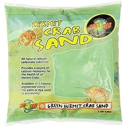 Zoo Med Laboratories SZMHC2G Hermit Crab, 2-Pound, Sand Green