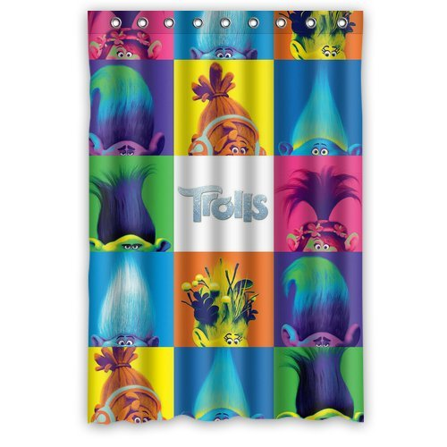 Decorations CollectionTrolls ColorfulPolyester Fabric Bathroom Shower Curtain 48 X 72 Amazoncouk Kitchen Home