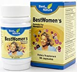 BestWomen's Formula - Vitamin helps hot flashes, night sweats, sleeplessness associated with menopause - soy isoflavones, valerian, licorice extract, black cohosh extract. Created by by Best in Nature