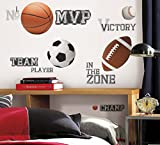 RoomMates RMK1705SCS All Star Sports Saying Peel and Stick Wall Decals