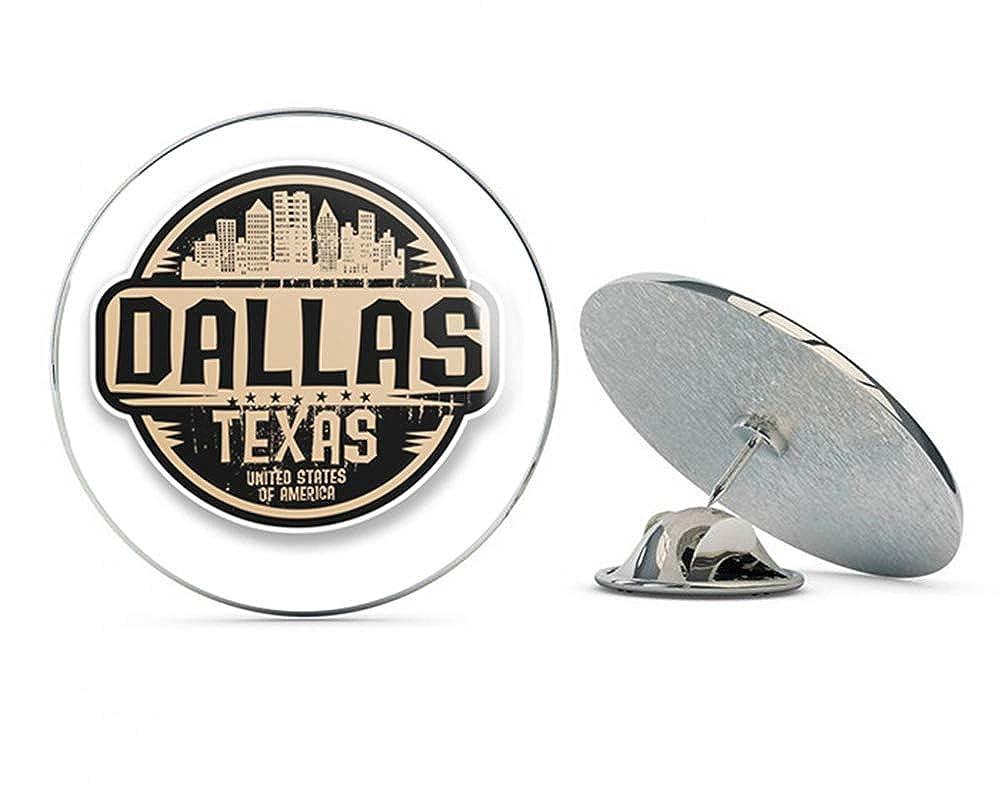 Metal Lapel Hat Round Pin Tie Tack Pinback Texas Flag