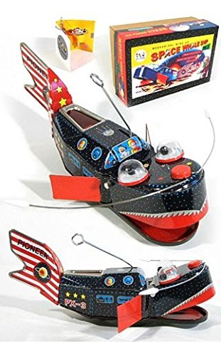 Space Ship Whale PX3 Windup Tin Toy by TinToyArcade (Image #1)