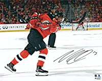 "Nico Hischier New Jersey Devils Autographed 16"" x 20"" NHL Debut Photograph - Fanatics Authentic Certified"