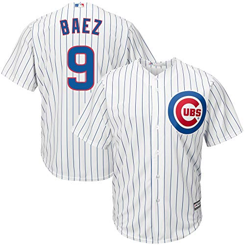 (Outerstuff Javier Baez Chicago Cubs #9 White Toddler Cool Base Home Replica Jersey (2T))