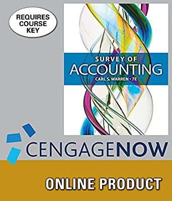 CengageNOW for Warren's Survey of Accounting, 7th Edition