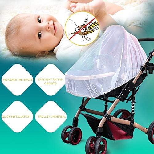 Blanc Trendy Summer Infants Baby Poussette Moustiquaire Buggy Landau Protector Poussette Fly Midge Insect Bug Cover Cover Poussette Accessoires Anti-Insect Net