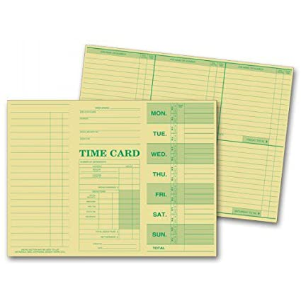 amazon com weekly employee time sheets office products