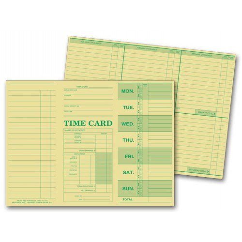 Weekly Employee Time Sheets -