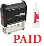 ExcelMark Paid Self Inking Rubber Stamp (Stamp Plus 5cc Refill Ink)