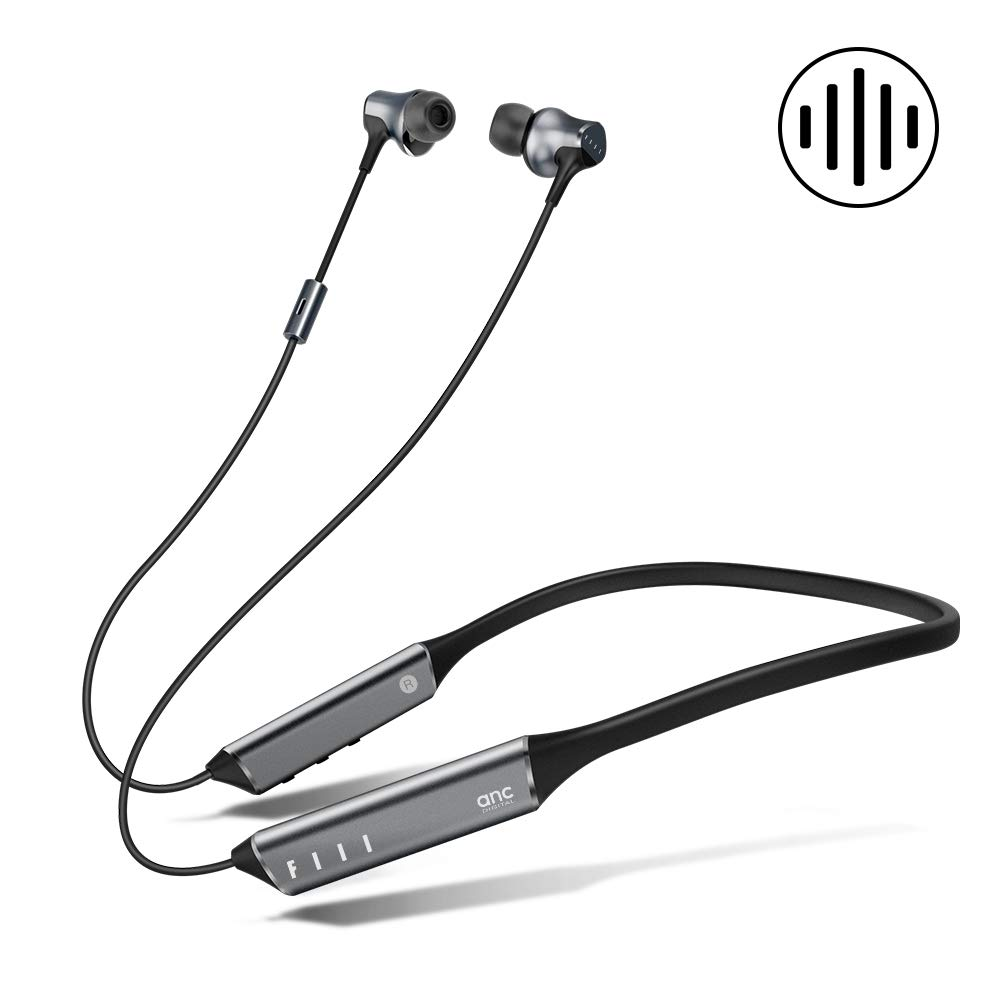 FIIL Digital Noise Cancelling Headphones, Wireless Earbuds with 4 Sizes Earplugs, 10hrs Playtime, Hi-Fi Sound, 10mm Dynamic Drivers in-Ear Headphones, Germany Design Bluetooth Headphones for Sports