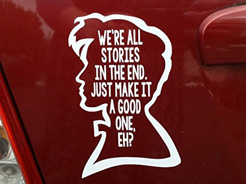 Doctor Who Quote (White) Decal Sticker Car Home Laptop Dye-cut By Boston Deals USA (Dye Usa)