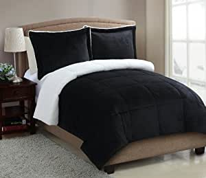 VCNY Micro Mink Sherpa 2-Piece Comforter Set