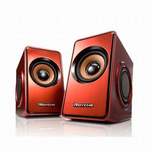 (ロイチェ)ROYCHE MR-1200 PC / ノートパソコン  プレミアム3Dサウンドスマートスピーカー XBR技術 (Red Color) (海外直送品)   B00IG2MUZ2