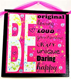 Amazon Com All About Me Girls Bedroom Wall Art Sign Cool Creative