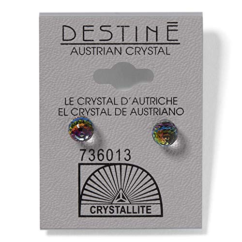 (Crystallite Destine Vitrail Medium 6mm Faceted Ball Earring)