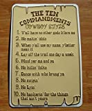 The-Ten-10-Commandments-Cowboy-Style-Horse-Ranch-Rope-Sign-Farm-Home-Decor